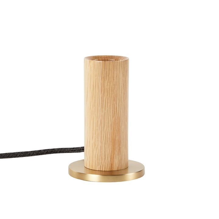 Oak Knuckle bordlampe, eg / messing (EU) fra Tala .