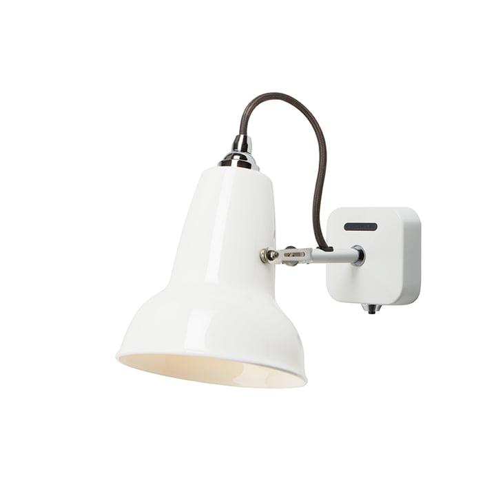 Original 1227 Mini keramisk væglampe, ren hvid af Anglepoise