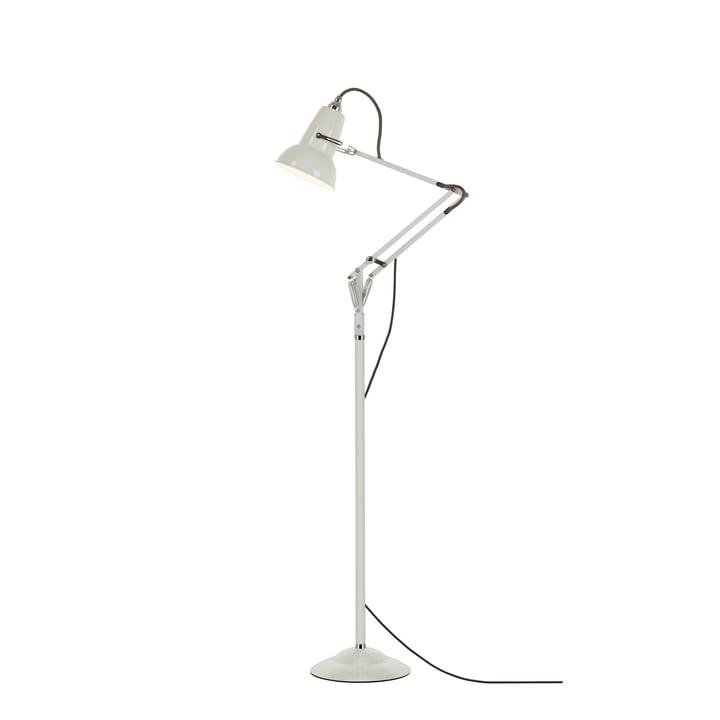 Original 1227 mini gulvlampe, linned hvid (kabel: grå) fra Anglepoise