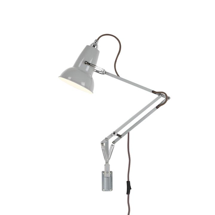 Original 1227 mini væglampe med vægbeslag, due grå (kabel: grå) fra Anglepoise .