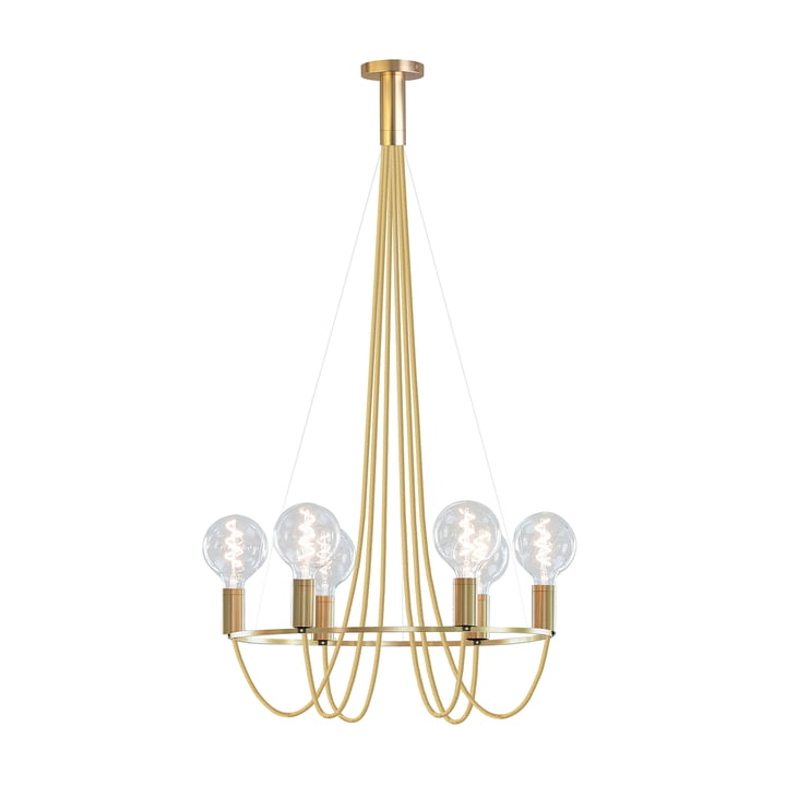 HALO lysekrone af NUD Collection i guldspire (TT-150)