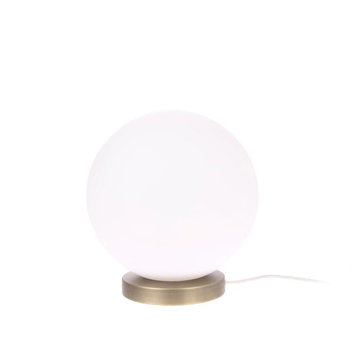 Den Ball bordlampe, M, Ø 20 cm, hvid / messing af HKliving