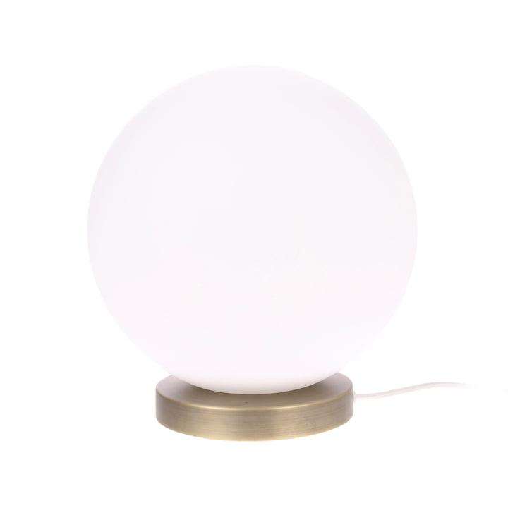 Den Ball bordlampe, L, Ø 30 cm, hvid / messing af HKliving