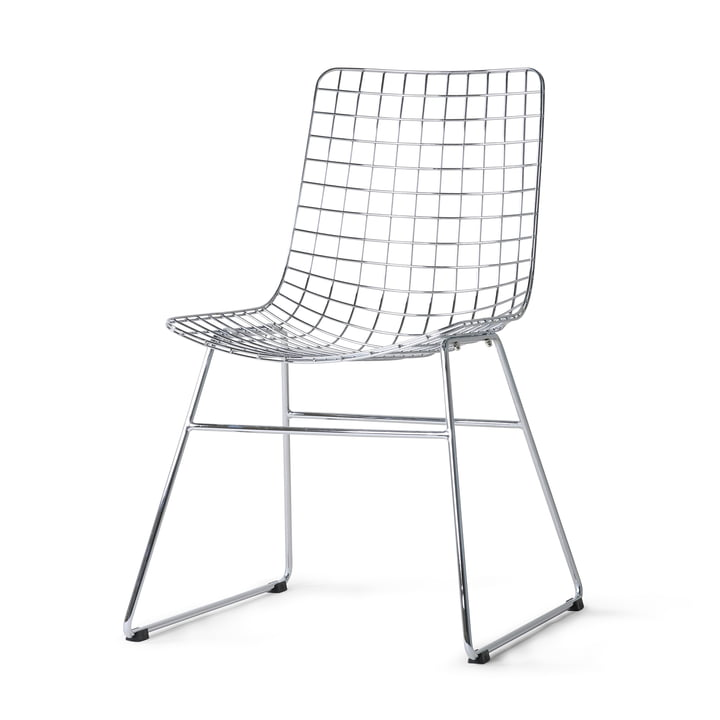 HKliving - Wire Chair, krom