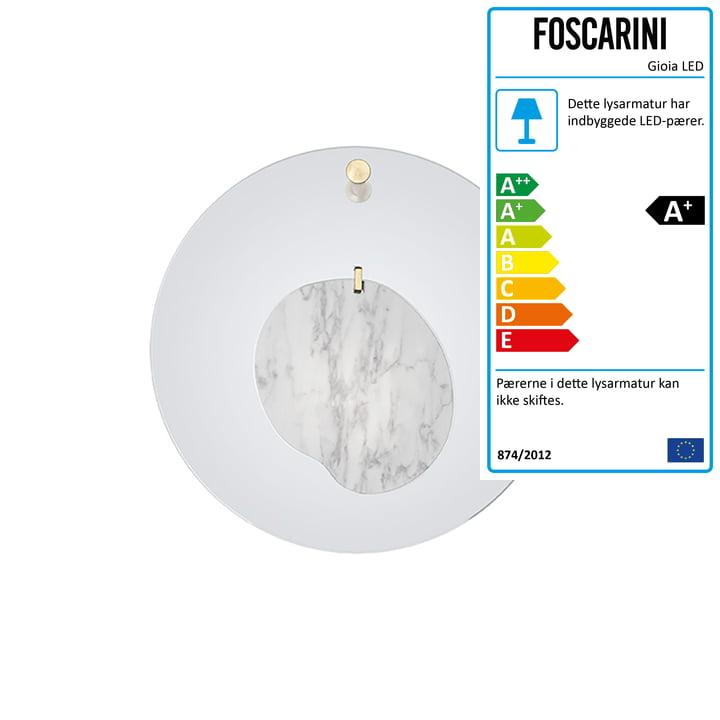 Gioia væglampen, azurblå af Foscarini