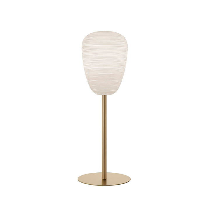 Rituals 1 bordlampe med stativ, hvid / guld fra Foscarini