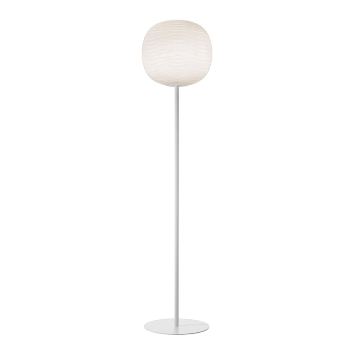 Gem gulvlampen, hvid / hvid af Foscarini