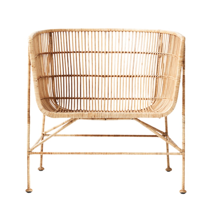 Cuun Rattan Lounge Chair, naturlig af House Doctor