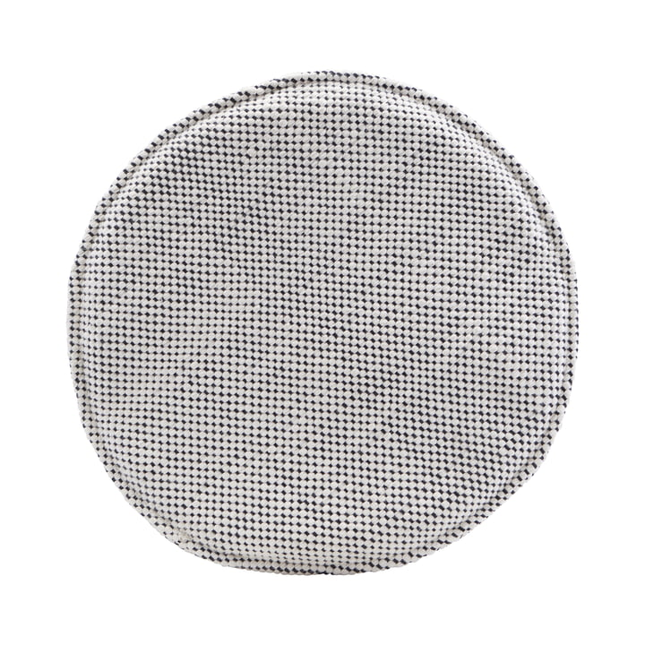 Sædehynde til Cuun-rottingstol Ø 35 cm, sort / hvid af House Doctor