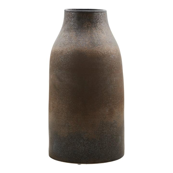 Wymm vasen, Ø 32 x H 65 cm, sort / brun