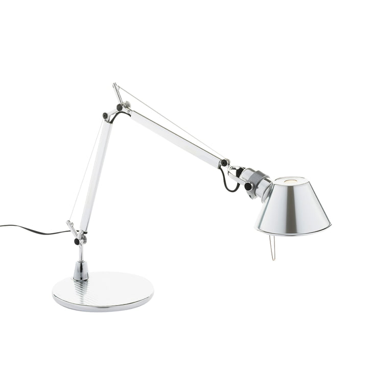 Tolomeo Micro bordlampe fra Artemide i højglanspoleret aluminium