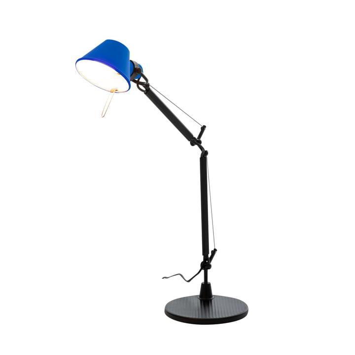 Tolomeo Micro Bicolor bordlampe, sort / blå af Artemide