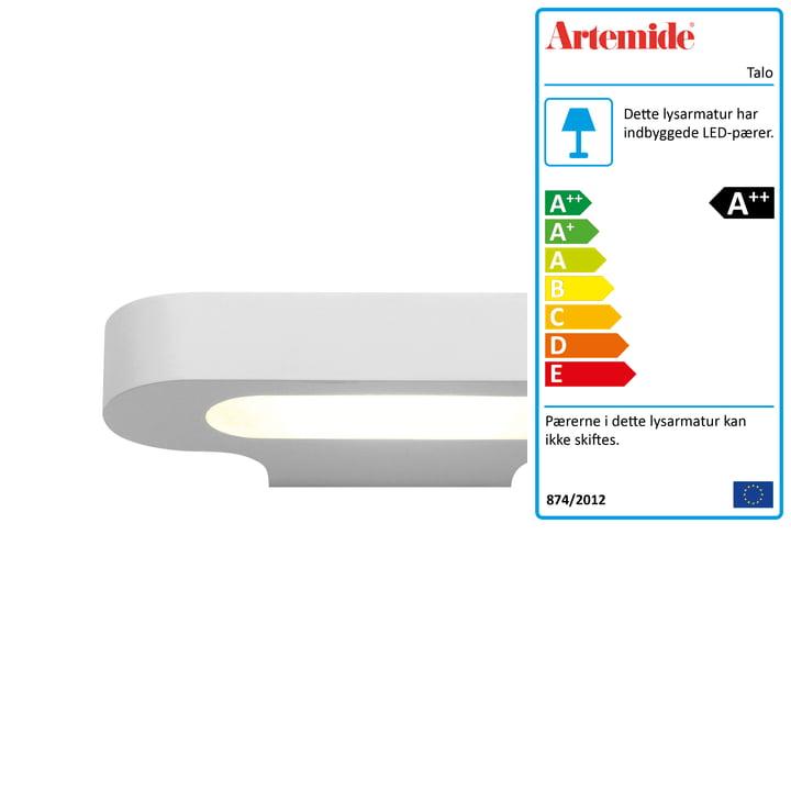 Talo LED væglampe, 2700K / hvid fra Artemide