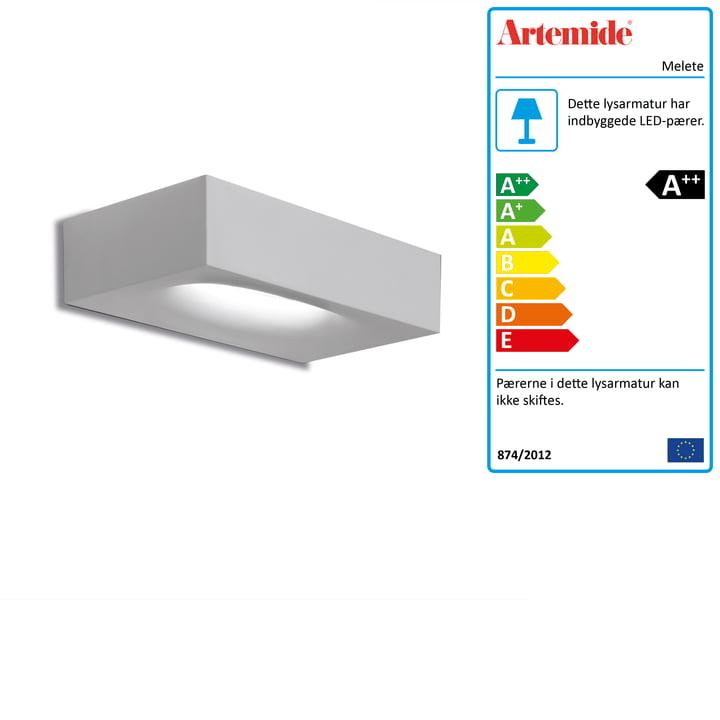 Melete LED-væglampe, 2700K / hvid fra Artemide