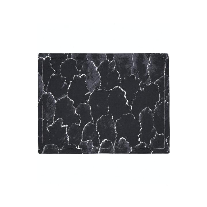 Käpykangas placemat, mørkegrå / hvid af Marimekko