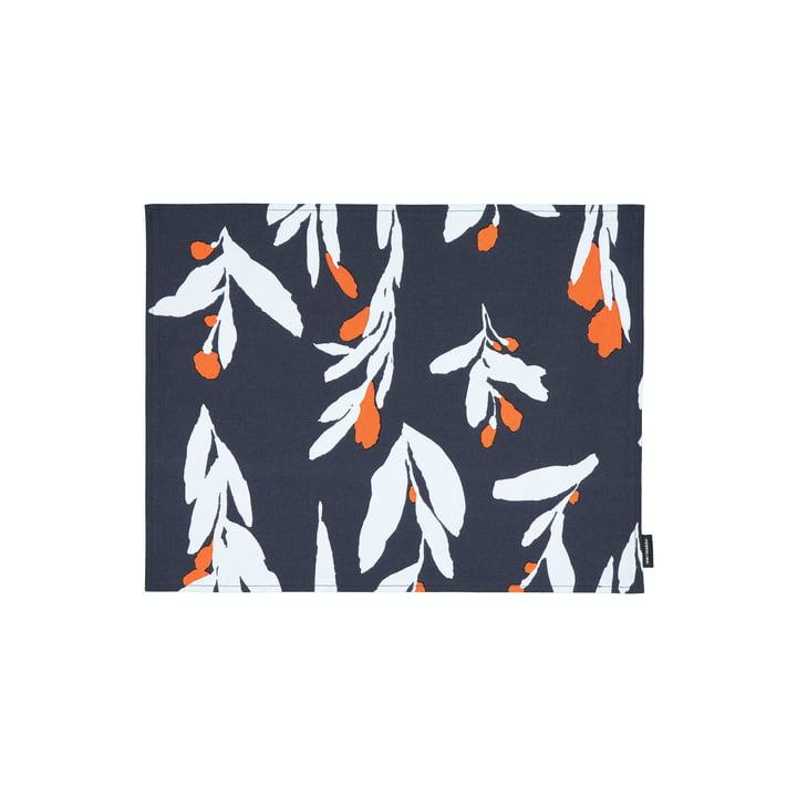 Pieni Hyhmä placemat, mørk blå / orange / blå af Marimekko