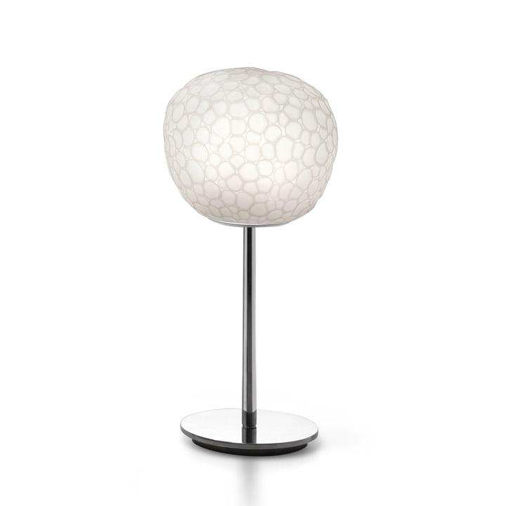Meteorite 15 bordlampe med base af Artemide i hvid
