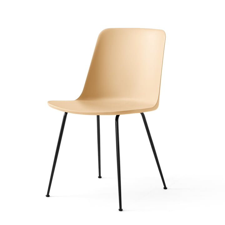 Rely Chair FW6, beige sand / sort af & tradition