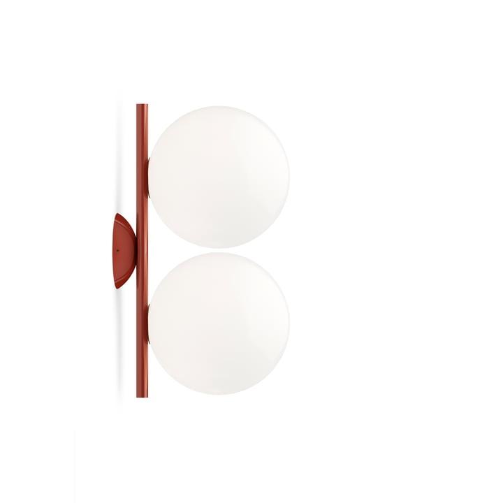 IC C / W1 DOBBEL væg- og loftslampe, burgunderrød fra Flos