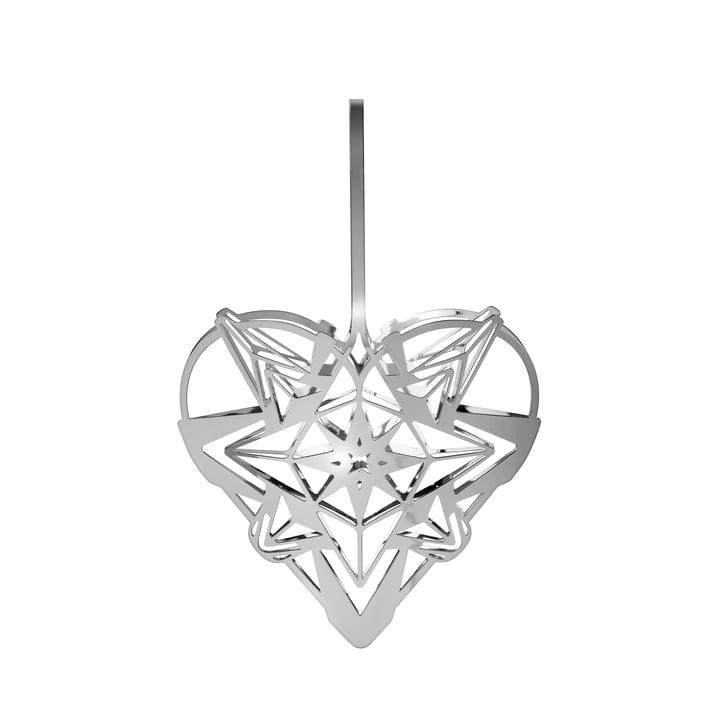 Karen Blixens julehjerte, H 12,8 cm, sølv af Rosendahl