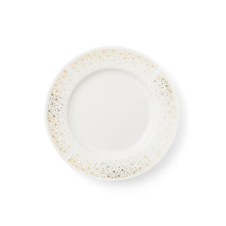 Grand Cru Moments-pladen, Ø 19 cm, hvid / guld af Rosendahl