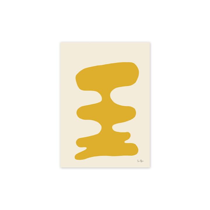 Den Soft Yellow plakat, 30 x 40 cm fra Paper Collective