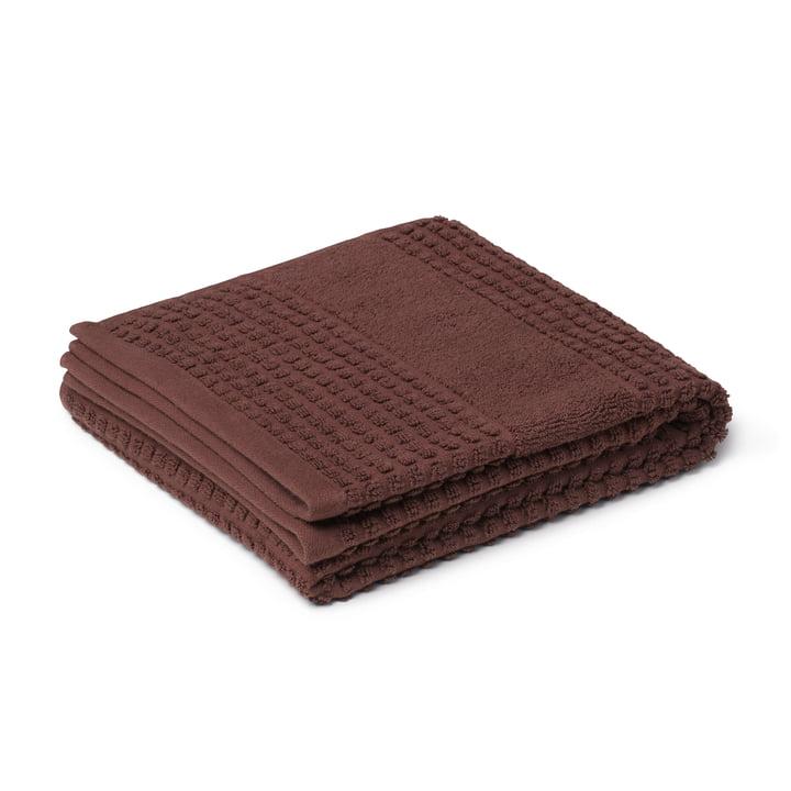 Check håndklæde 50 x 100 cm, chokolade fra Juna
