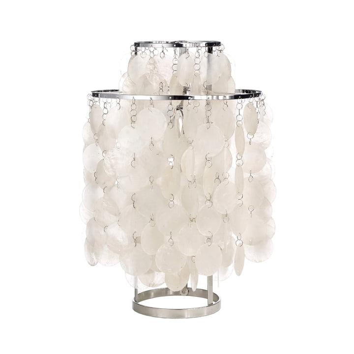 Sjov 2TM bordlampe Ø 27 cm fra Verpan i hvid / sølv