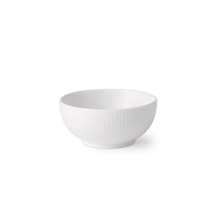 Den hvide ribbet skål 24 cl fra Royal Copenhagen