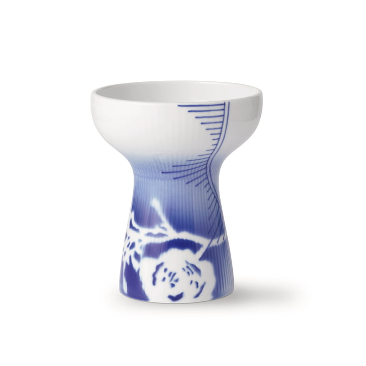Mega Rose åben ribbet vase medium H 15 cm (Limited Edition) fra Royal Copenhagen
