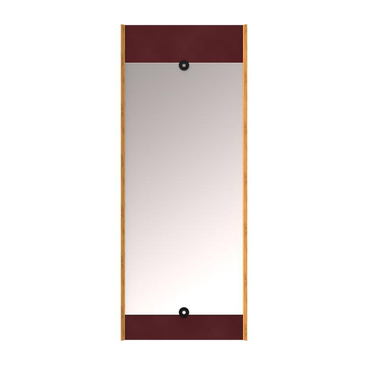 Layer vægspejlet, burgunderrød af We Do Wood