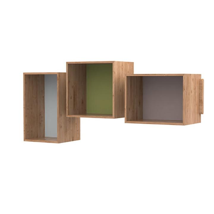 SJ Bookcase Midi (sæt med 3), eg af We Do Wood