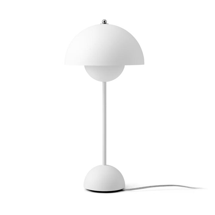 FlowerPot bordlampe VP3 af & tradition i mat hvid