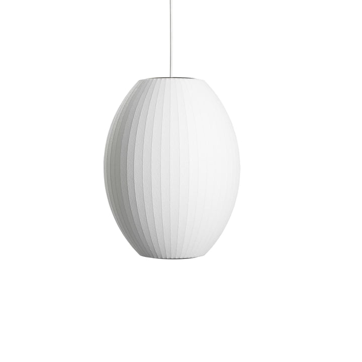 Nelson Cigar Bubble Pendant Lampe S, Ø 3 5. 5 x H 44 cm i hvidhvid af Hay