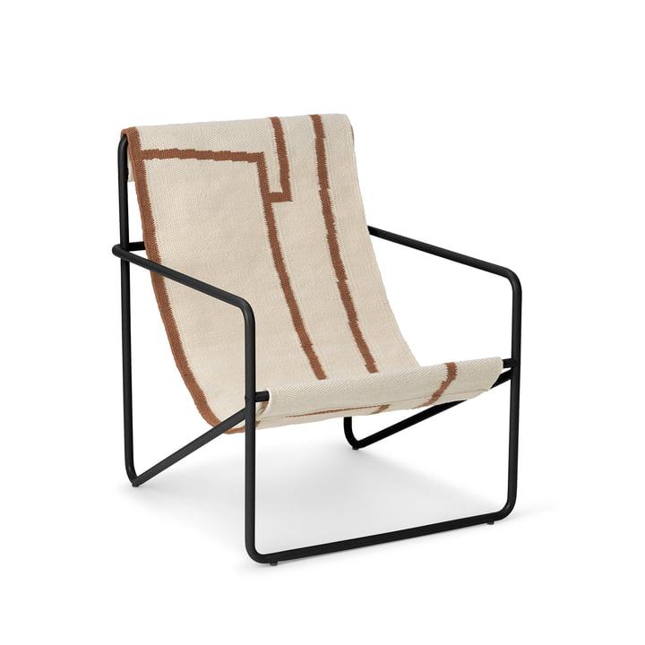 Desert Chair Kids fra ferm Living i sort / shape