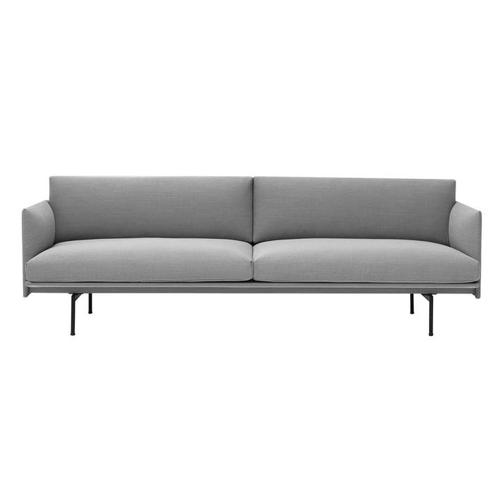 Outline 3-pers. Sofa fra Muuto i grå