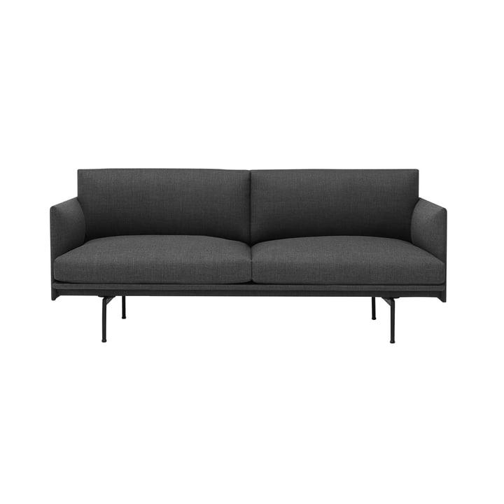 The Outline Sofa 2-Seater fra Muuto i grå
