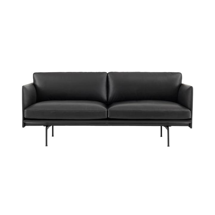 The Outline Sofa 2-Seater fra Muuto i sort