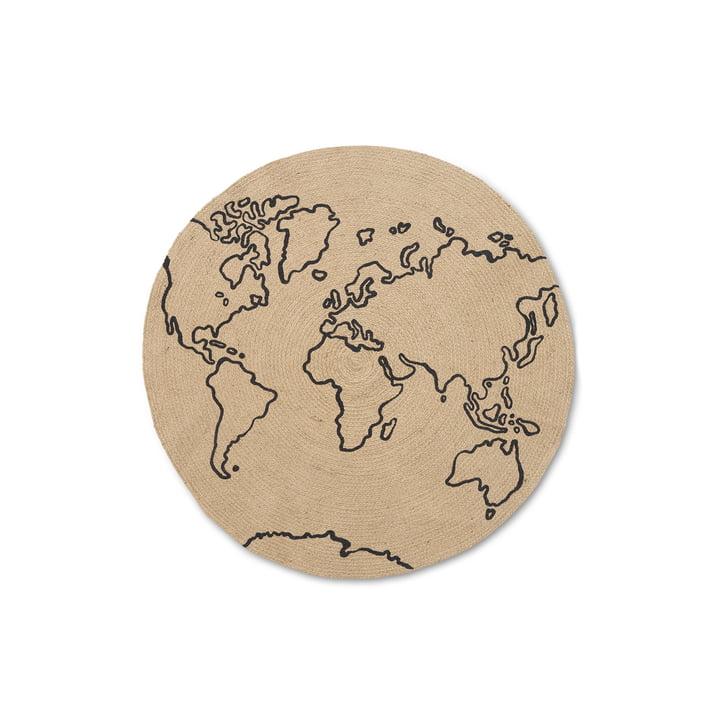 World Jute-tæppet af ferm Living, Ø 100 cm