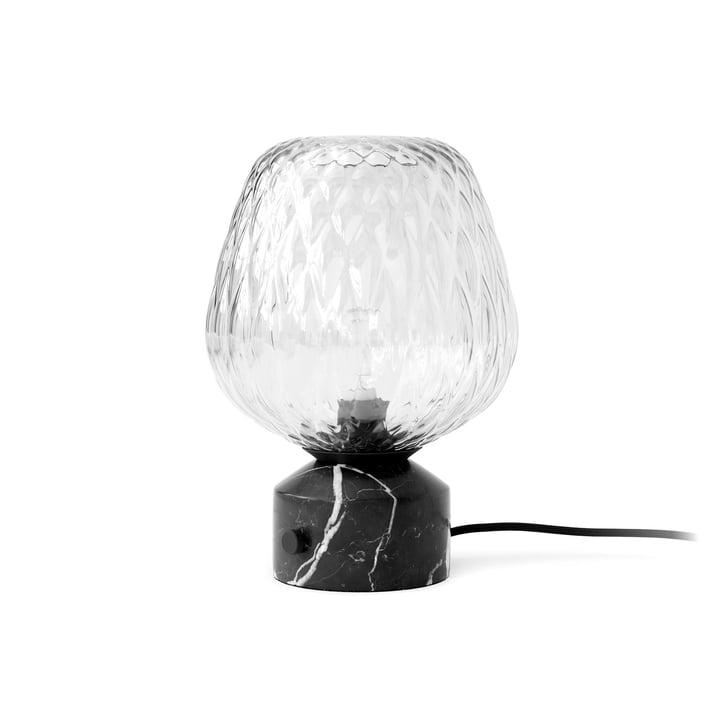Blæst bordlampe SW6, Nero Marquina marmor af & tradition