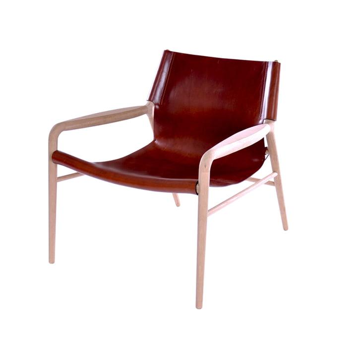 Rama Lounge Chair, sæbebehandlet eg / cognac læder af Ox Denmarq