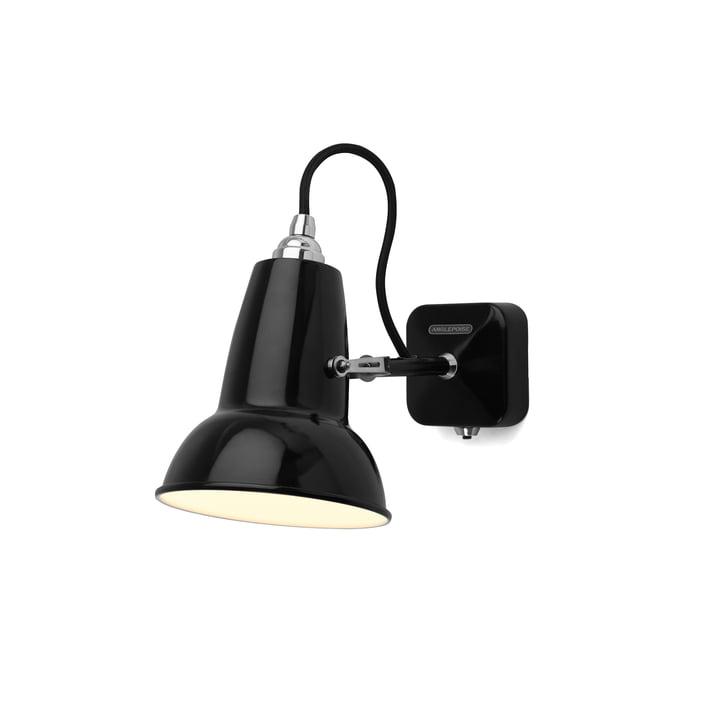 Original 1227 mini væglampe, sort kabel, jet fra Anglepoise