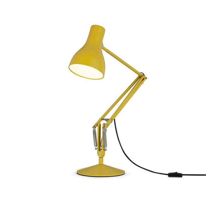 Type 75 bordlampe fra Anglepoise i Ocher Yellow
