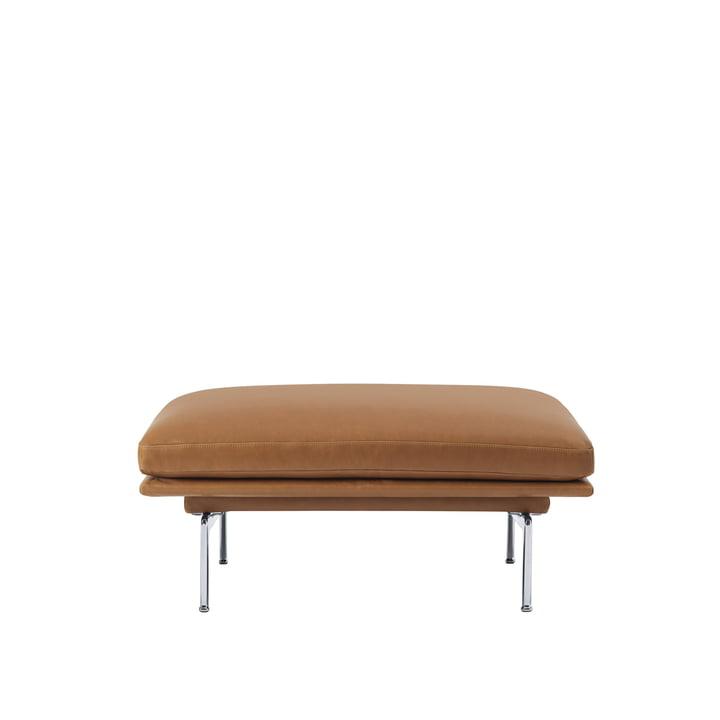 Outline Sofa Pouf fra Muuto med ben i poleret aluminium