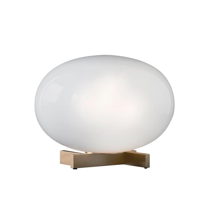 Alba bordlampe 265, opalglas / messing fra Oluce