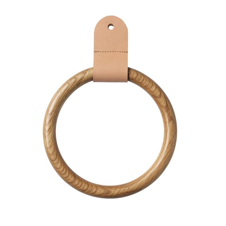Q4 Allé ring af FDB Møbler til garderobeskabe i naturlig eg