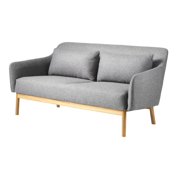 Gesja 2-pers. Sofa fra FDB Møbler i naturlig eg / grå melange