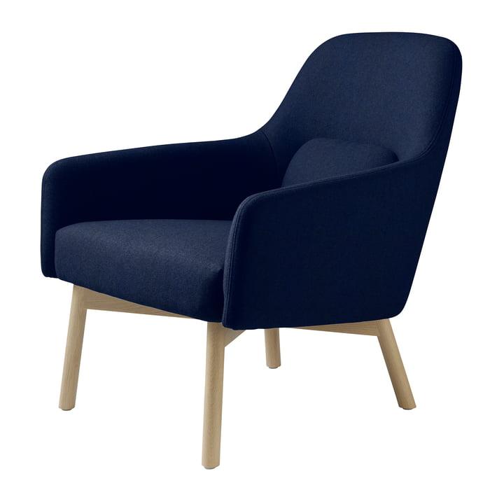 L33 Gesja lænestol fra FDB Møbler i naturlig eg / kongeblå