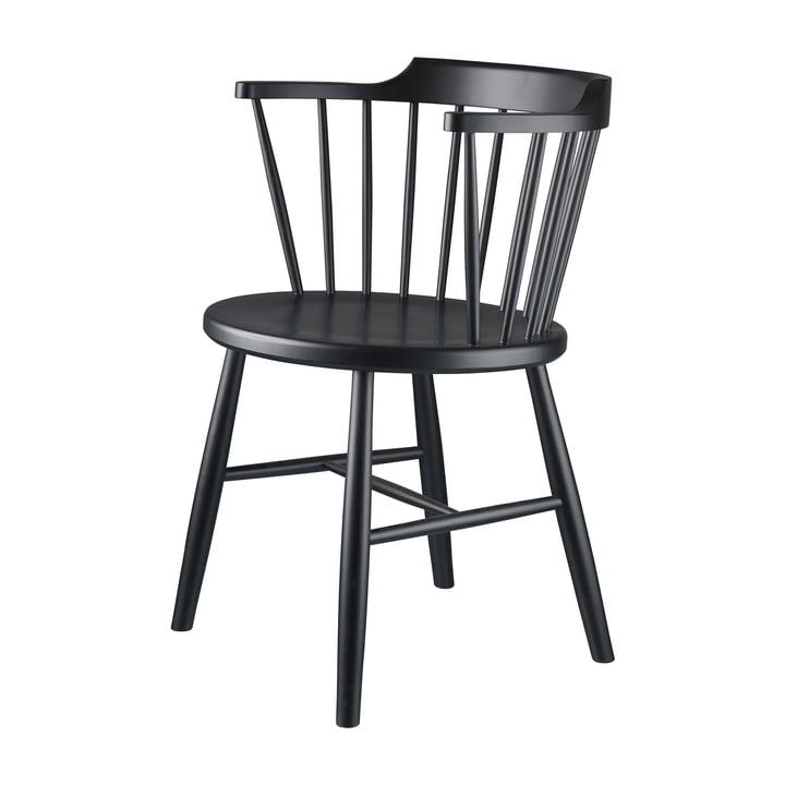 J18 stol af FDB Møbler sort bøg