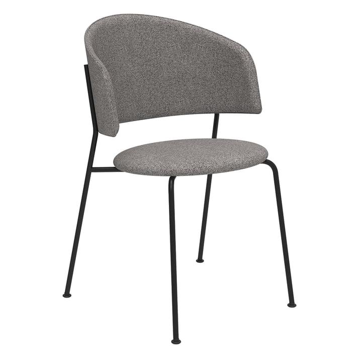 Wagner Dining Chair fra Objekte unserer Tage i sort / Mainline Flax (stengrå)